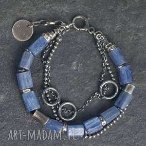 bransoletki metaloplastyka bransoletka srebrna z kianitami