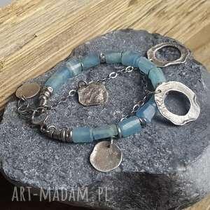 bransoletki modna-bransoletka bransoletka srebrna z kalcytem
