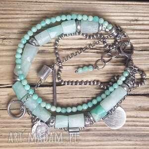 bransoletki modna-bransoletka bransoletka srebrna z amazonitem