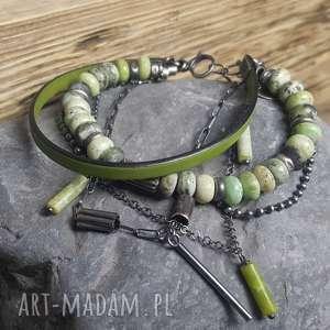 kolorowe bransoletki modna-bransoletka bransoletka srebrna z chryzoprazem