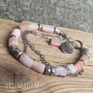 niepowtarzalne bransoletki bransoletka-opal bransoletka srebrna z opalem