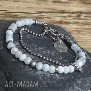 handmade bransoletki bransoletka-prezent bransoletka srebrna z akwamarynami