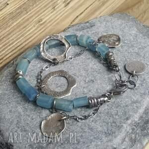 modna-bransoletka bransoletki bransoletka srebrna z kalcytem