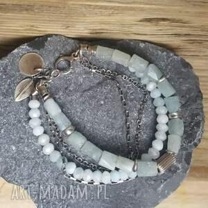 niebieskie bransoletki srebro-akwamaryn bransoletka srebrna z akwamarynami