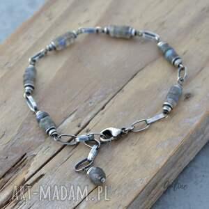srebro bransoletka srebrna z labradorytem