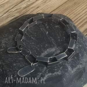 ręcznie zrobione bransoletka srebro srebrna