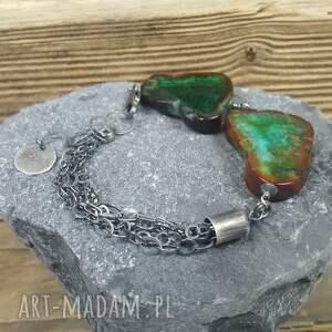 hand made srebro bransoletka srebrna z przepięknymi