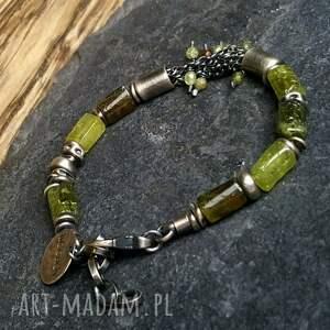 zielone bransoletka srebro srebrna z zielonym