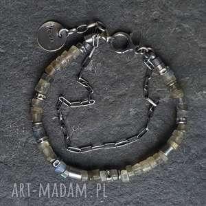 metaloplastyka bransoletki bransoletka srebrna z labradorytami