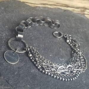 srebro oksydowane bransoletka srebrna