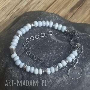 bransoletki srebro-oksydowane bransoletka srebrna z opalami