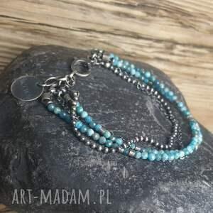 oryginalne bransoletki biżuteria-na-prezent bransoletka srebrna z apatytem