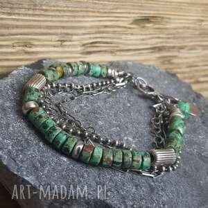 ręcznie robione bransoletki srebro-bransoletka bransoletka srebrna z turkusem