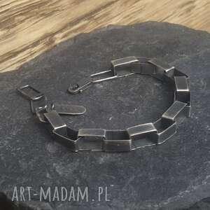 ręcznie zrobione biżuteria na prezent bransoletka srebrna