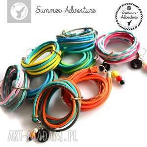 turkusowe sznurkowa bransoletka summer adventure