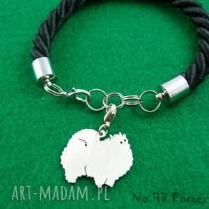 handmade bransoletki rasy-psów bransoletka szpic miniaturowy