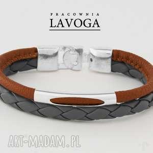 niepowtarzalne bransoletki bransoletka w brązie i szarości