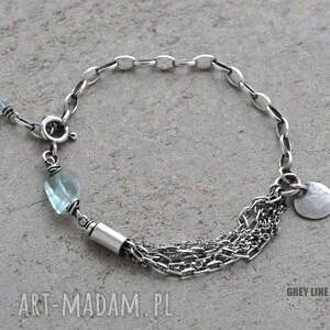 wyraziste bransoletki akwamaryn bransoletka z akwamarynem i