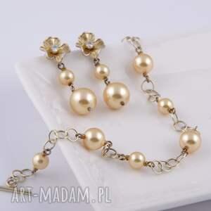 perły bransoletki bransoletka z beżowych pereł