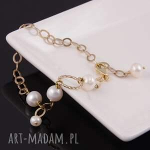 bransoletka bransoletki z białych pereł