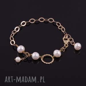 nietypowe bransoletki srebro bransoletka z białych pereł