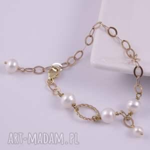 białe bransoletki srebro bransoletka z białych pereł