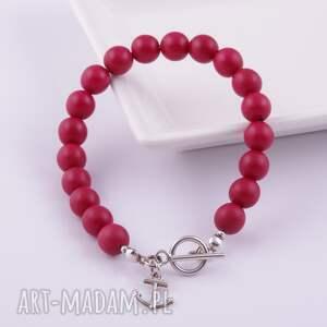 niepowtarzalne bransoletka piękna, czerwona z kolekcji la mon