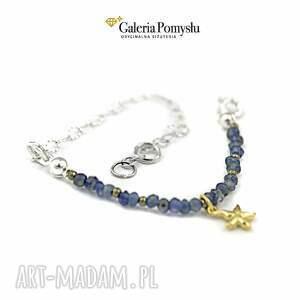 delikatna bransoletki niebieskie bransoletka z iolitem
