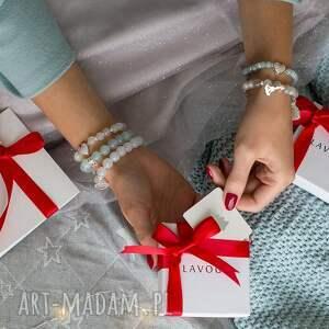 świąteczne prezenty bransoletka z jadeitów gwiazdką