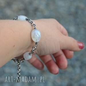 hand-made bransoletki srebro bransoletka z kamieniem księżycowym