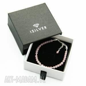 bransoletka z kwarcem różowym mini