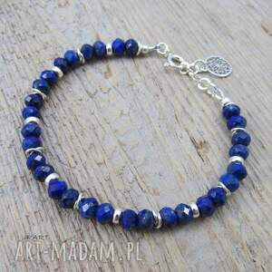 oryginalne srebro bransoletka z lapis lazuli