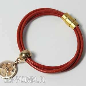 gustowne rudy bransoletka z łapką