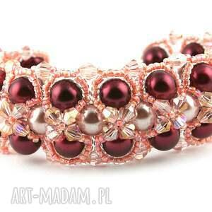 bransoletki perły bransoletka z pereł i kryształków