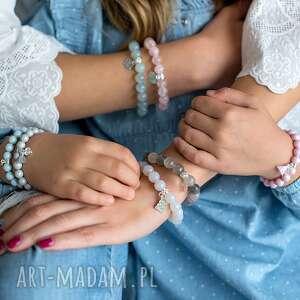 różowe bransoletki perła bransoletka z perełek swarovskiego