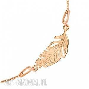 hand made modny bransoletka z różowego złota