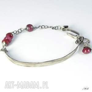 różowe rubin bransoletka z rubinami