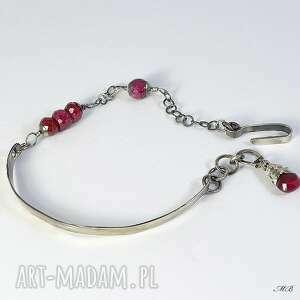 urokliwe rubin bransoletka z rubinami
