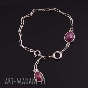 czerwone bransoletki fasetowane bransoletka z rubinów 1