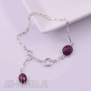 ręczne wykonanie bransoletki rubiny bransoletka z rubinów 1