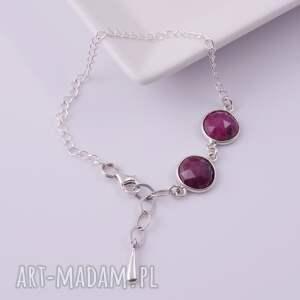 czerwone bransoletki rubin bransoletka z rubinów 2