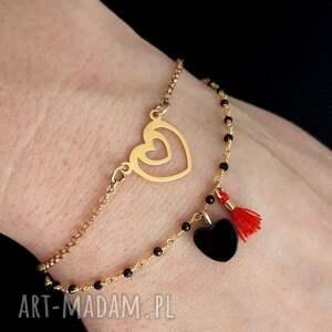 złote bransoletki walentynki bransoletka z sercem srebro