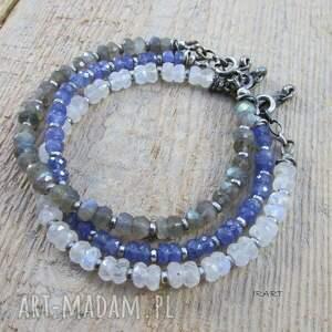 niebieskie tanzanit bransoletka z tanzanitu z