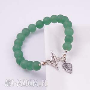 zielone bransoletki srebro bransoletka z zielonych kul jadeitu