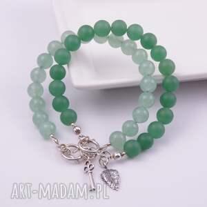 bransoletka bransoletki z zielonych kul jadeitu