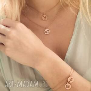 różowe bransoletki bransoletka z zodiakiem byka