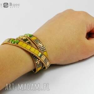 bransoletka bransoletki pomarańczowe zawijana boho wrap chan
