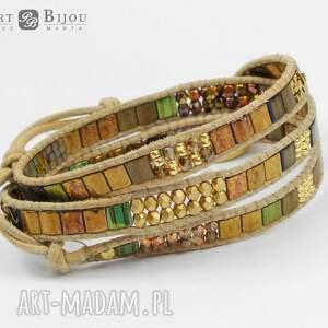 hand-made bransoletki bransoletka zawijana boho wrap chan