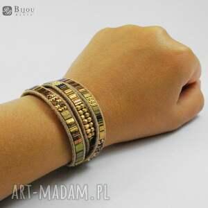 złote bransoletki zawijana bransoletka boho wrap chan