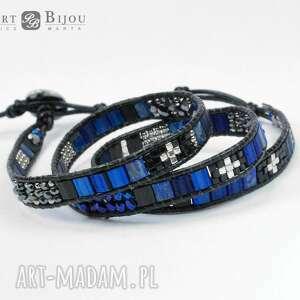 czarne bransoletki zawijana bransoletka wrap chan luu